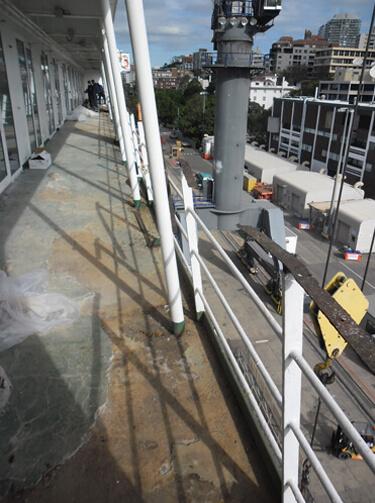 Cruise ship balcony repairs
