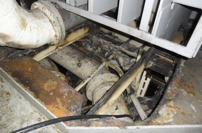 Engine room deck plating